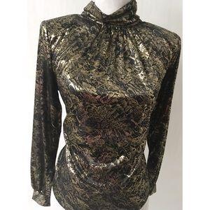 Black & Gold Vintage Top Size 8